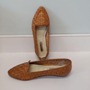 Vintage Flats, Woven Brazilian Leather, 8.5M